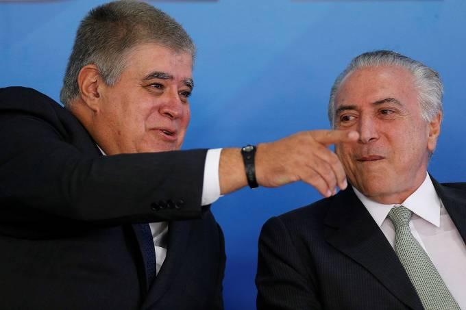 Carlos Marun  e Michel Temer