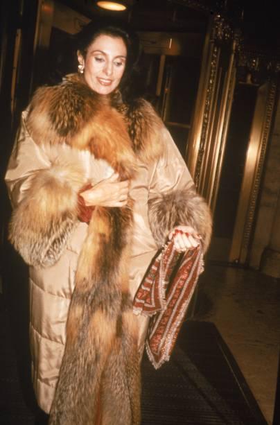 Socialite Carmen Mayrink Veiga, Nova York - 01/01/1988