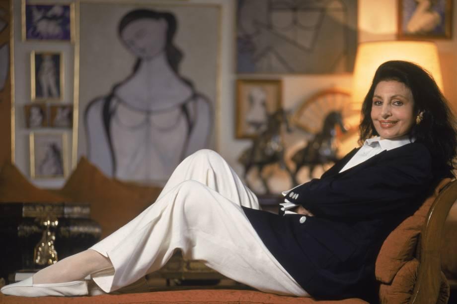Carmen Mayrink Veiga, socialite carioca - 12/01/1997
