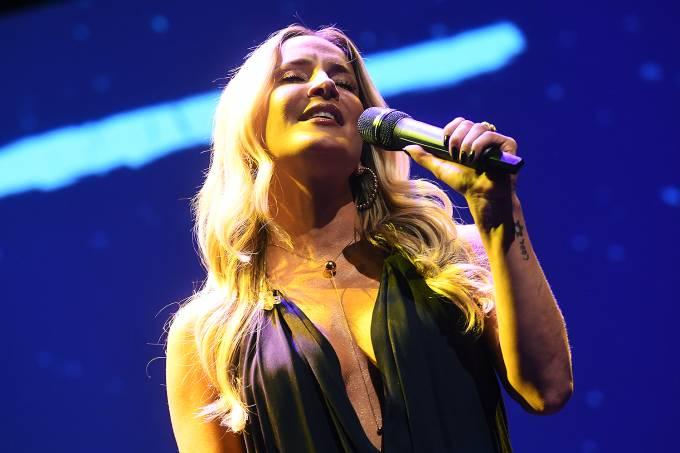 A cantora Claudia Leitte durante o prêmio VEJA-se