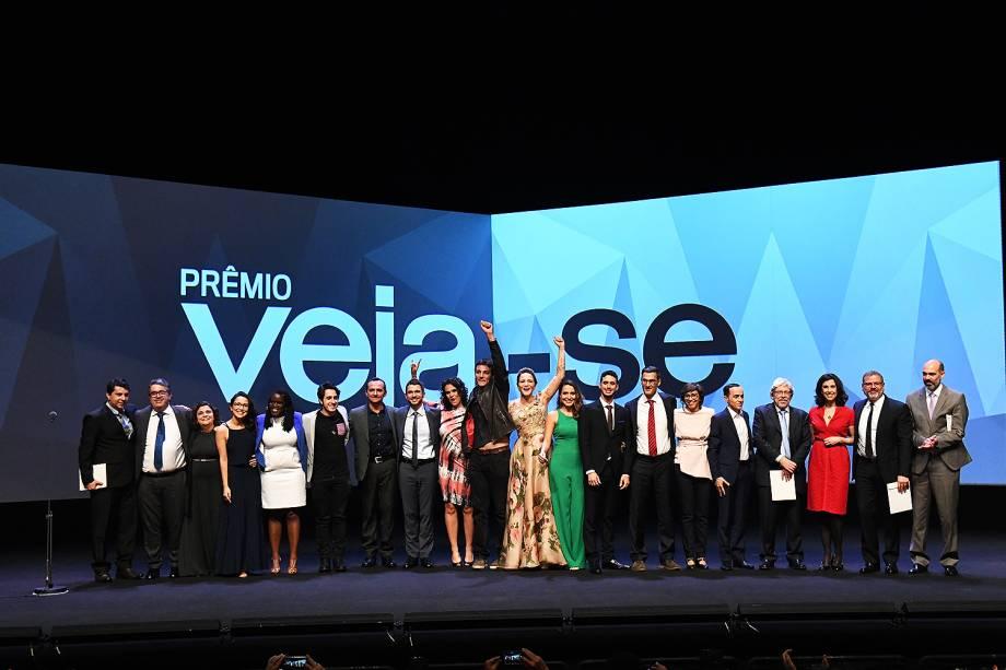 Os dezoito finalistas do Prêmio Veja-se. responsáveis por iniciativas que melhoram o Brasil em seis áreas: Cultura, Diversidade, Educação, Inovação, Políticas Públicas e Saúde.