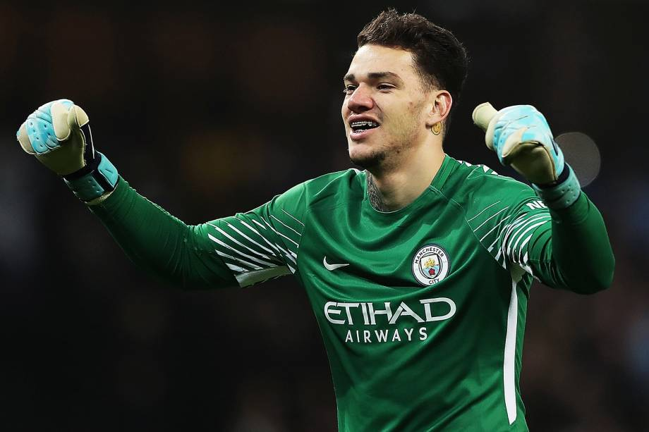 O goleiro Ederson, do Manchester City - 23/12/2017