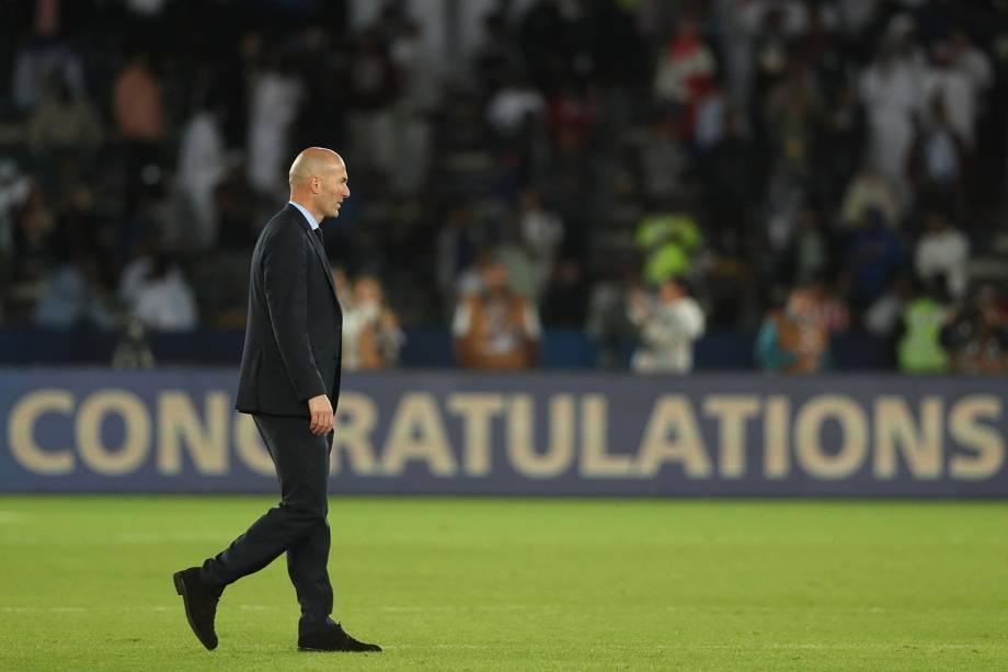 Zinedine Zidane, técnico do Real Madrid, após a vitória sobre o Grêmio por 1 a 0 na final do Mundial de Clubes da FIFA - 16/12/2017