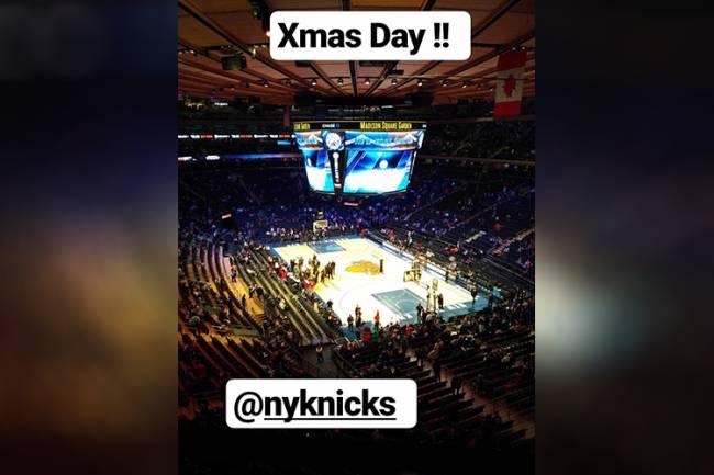 Antoine Griezmann assiste partida de basquete no Natal