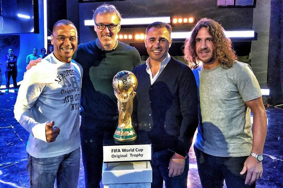 Cafu, Laurent Blanc, Fabio Cannavaro e Carles Puyol