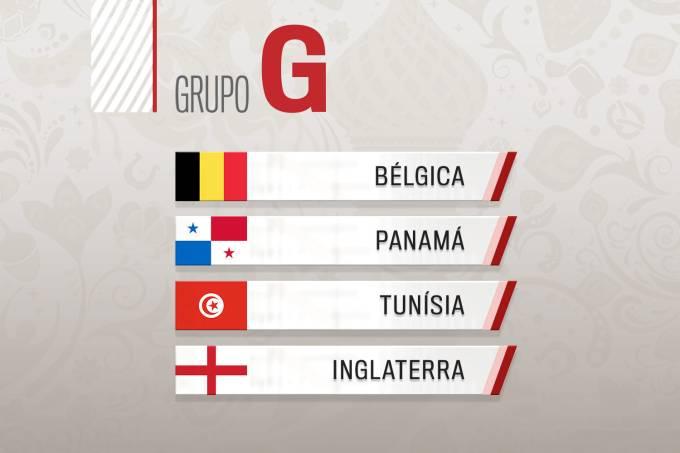 Grupo G – Copa do Mundo 2018