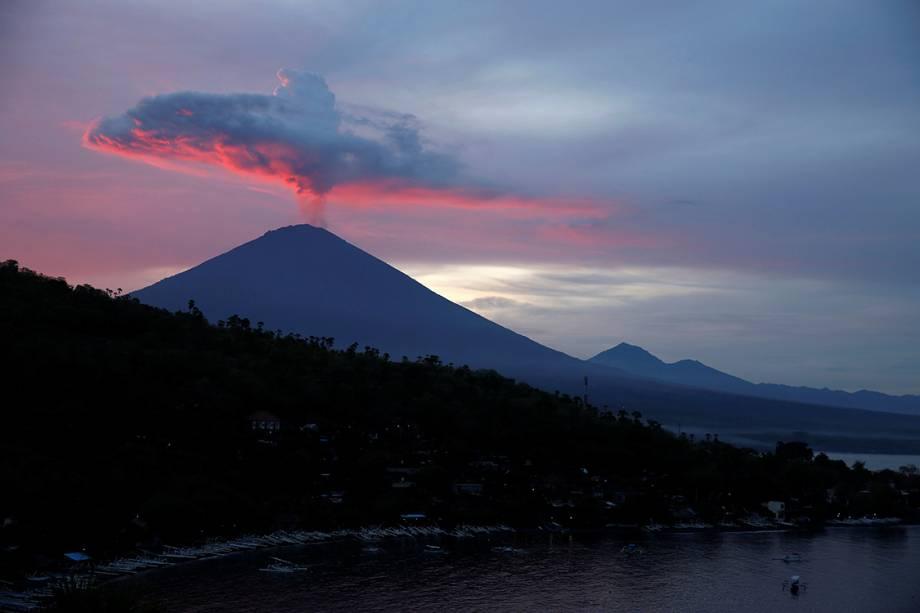 Vulcão Agung, em Bali, na Indonésia