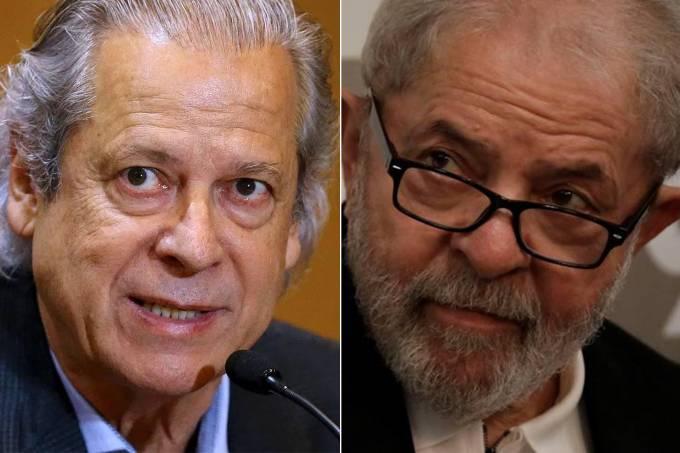 José Dirceu e Lula