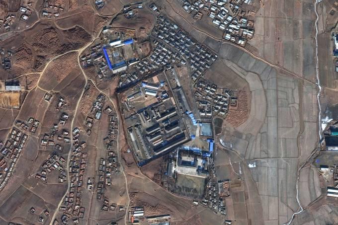 Campo de prisão em Sinuiju, na Coreia do Norte