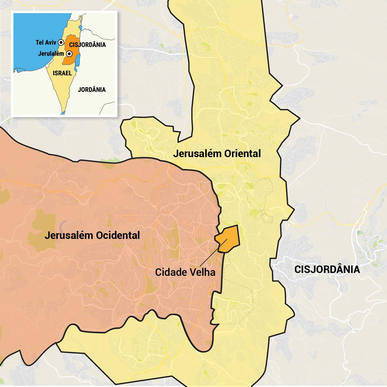 Mapa de Jerusalém