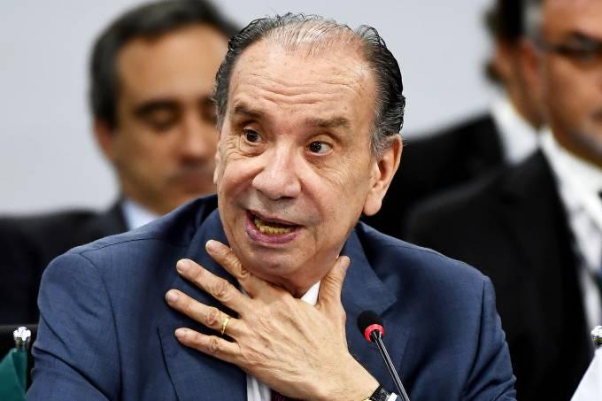 O ministro das Relações Exteriores, Aloysio Nunes Ferreira, em Brasília  – 20/12/2017