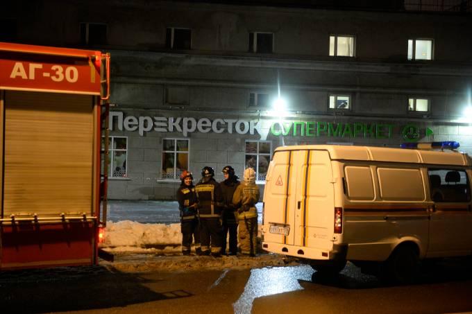 Explosão em supermercado em São Petesburgo