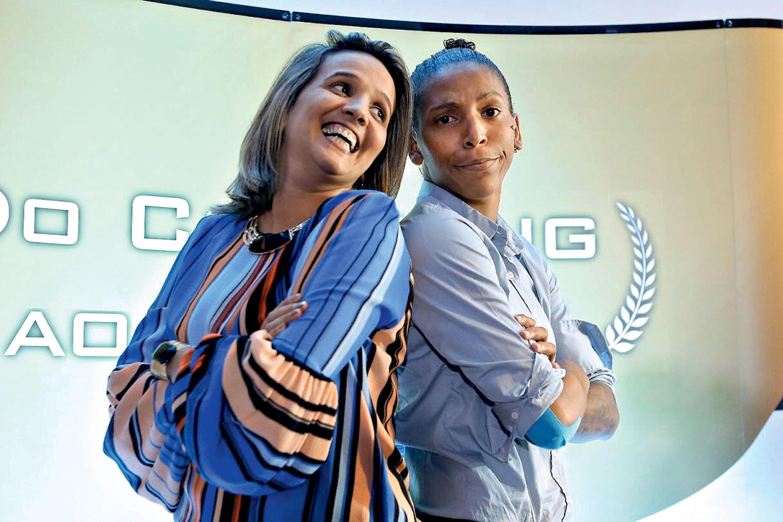 Nell Salgado e Rafaela Silva