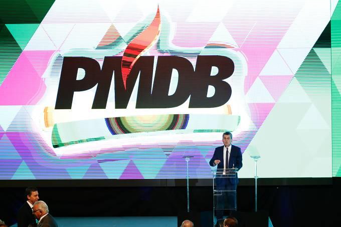 O presidente nacional do PMDB, senador Romero Jucá