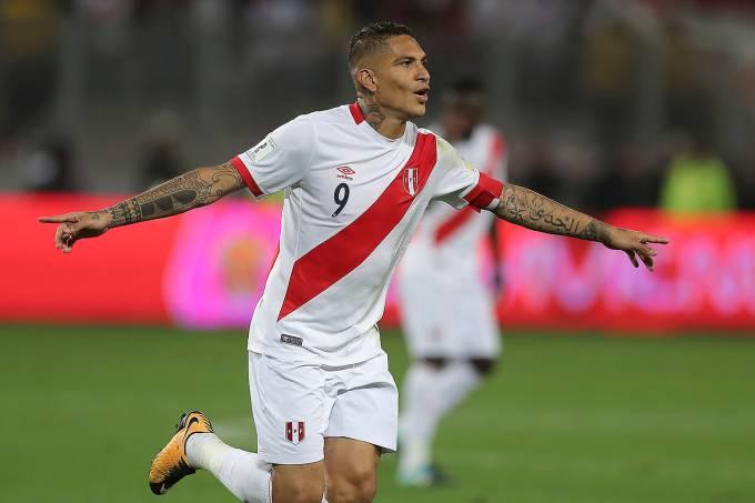 Peru v Colombia – Paolo Guerrero, atacante do Peru