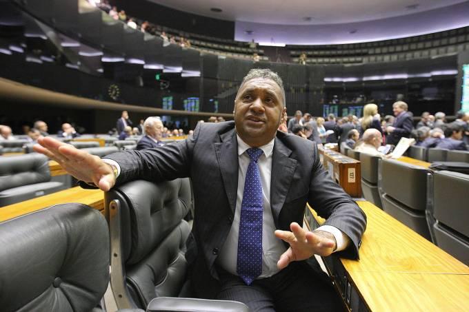 Deputado Tiririca no plenário da Câmara