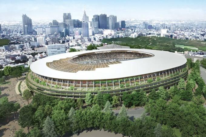 Estádio Olímpico de Tóquio, para a Olimpíada de 2020