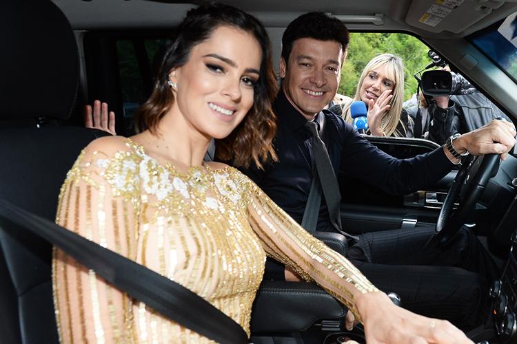 Os apresentadores Rodrigo Faro e Vera Viel  chegam ao Hotel Vila Inglesa, na cidade de Campos do Jordão (SP), onde será realizado o casamento de Ticiane Pinheiro e César Tralli - 02/12/2017