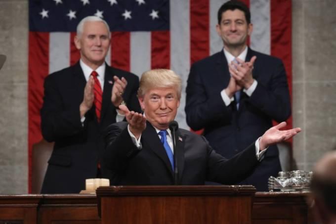 Donald Trump em discurso do Estado da União