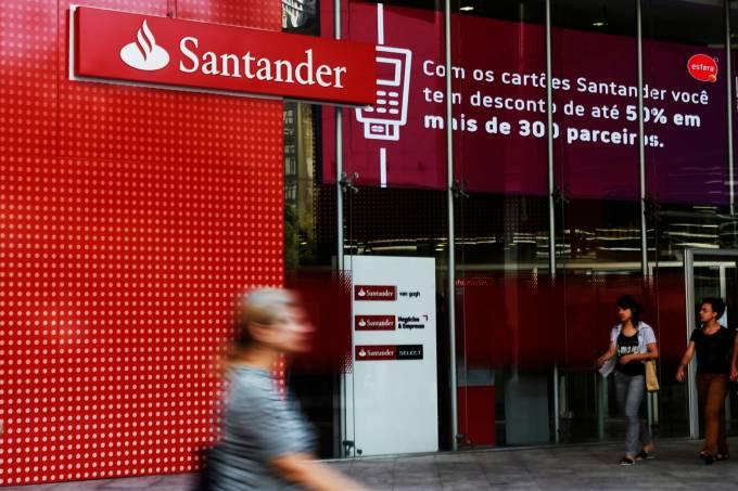 Agência do banco Santander na Avenida Paulista, em São Paulo