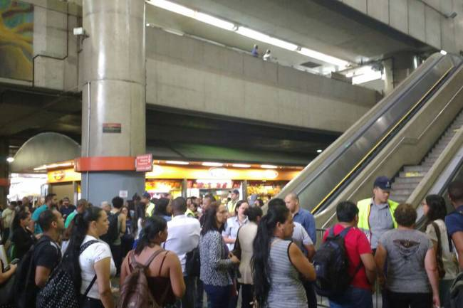Greve no metrô em São Paulo