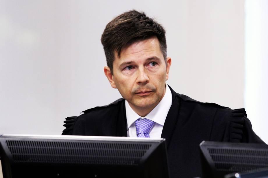 O desembargador Leandro Paulsen, durante a sessão de julgamento do ex-presidente Lula no TRF-4 (Tribunal Regional Federal da 4ª Região), em Porto Alegre (RS) - 24/01/2018
