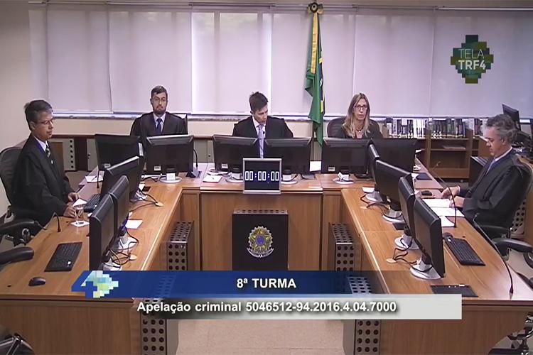 Sessão é aberta para o julgamento do ex-presidente Lula, no TRF-4 (Tribunal Regional Federal da 4ª Região, em Porto Alegre (RS) - 24/01/2018