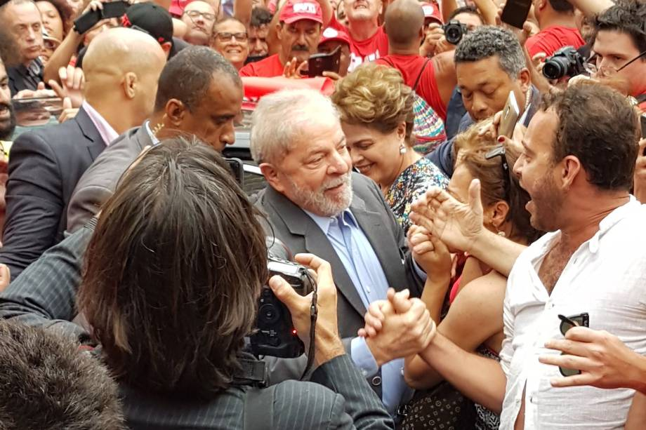 O ex-presidente Lula participa de ato antes de ser julgado em Porto Alegre (RS) - 23/01/2018