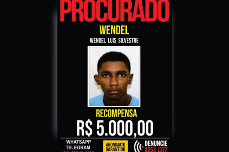 Wendel Luis Silvestre, suspeito de matar delegado no Rio de Janeiro (RJ)