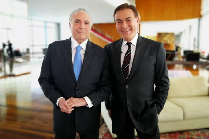 Michel Temer e Amaury Jr.