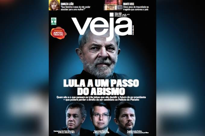 Capa da edição 2566 de VEJA: Lula a um passo do abismo