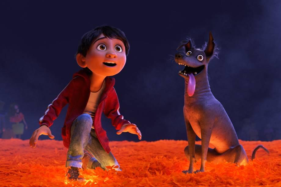 Miguel atravessa a Terra dos Mortos ao lado de seu leal cachorro, Dante