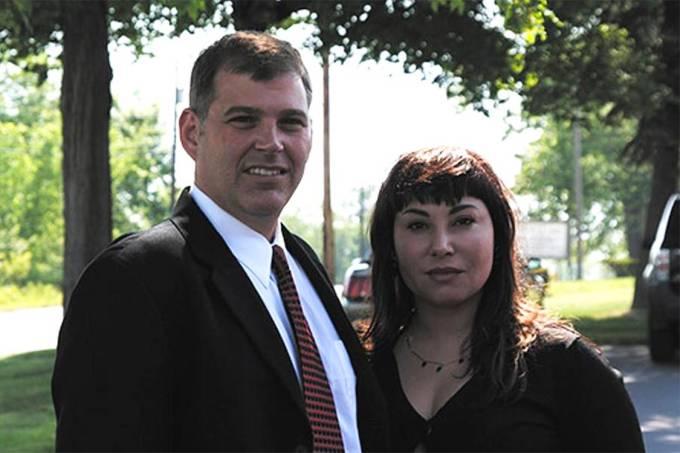 Claudia Cristina Sobral Hoerig ao lado do ex-marido Karl Hoerig