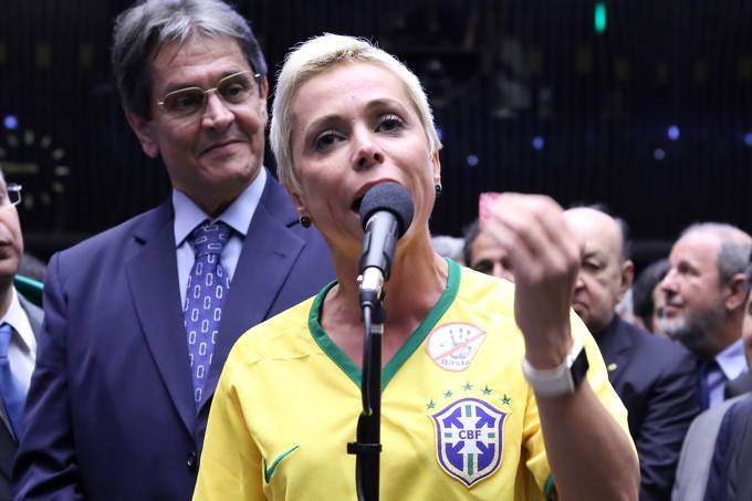 Cristiane Brasil e Roberto Jeferson