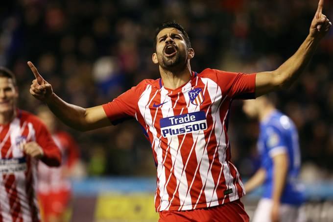 Diego Costa marca no retorno ao Atlético de Madri