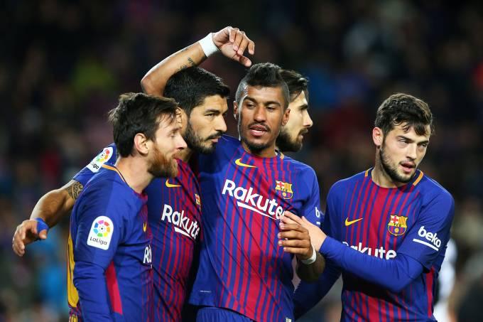 O jogador Paulinho, do Barcelona