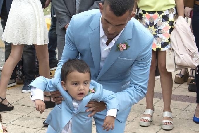 Carlos Tevez e seu filho Lito Junior