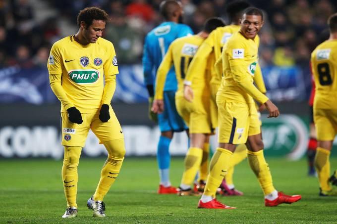 O atacante Neymar, do PSG