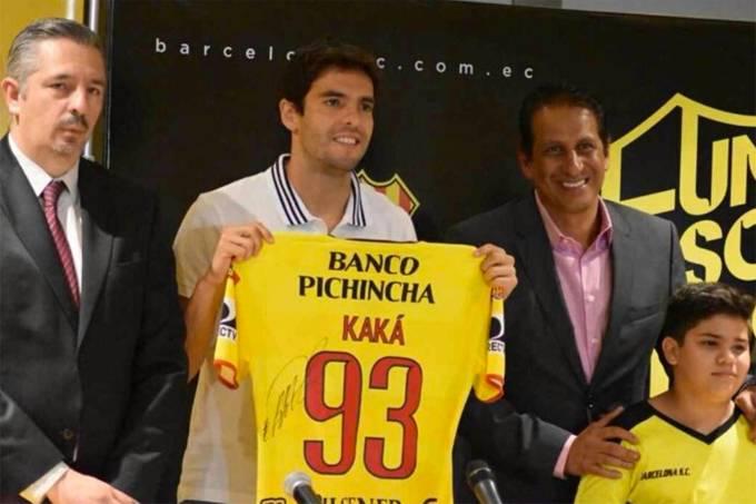 Kaká é apresentado no Barcelona de Guayaquil