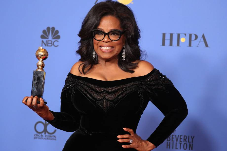 Oprah Winfrey homenageada com o prêmio Cecil B. DeMille no Globo de Ouro