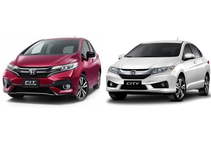 Carros Honda Fit e Honda City