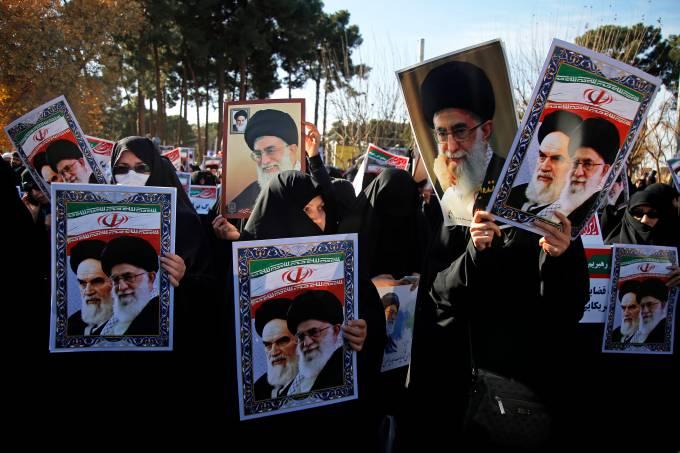 Manifestação pró-governo no Irã