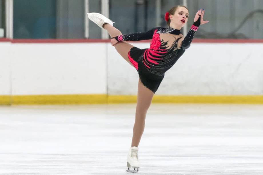 Isadora Williams, representante do Brasil na patinação artística da Olimpíada de Inverno de Pyeongchang