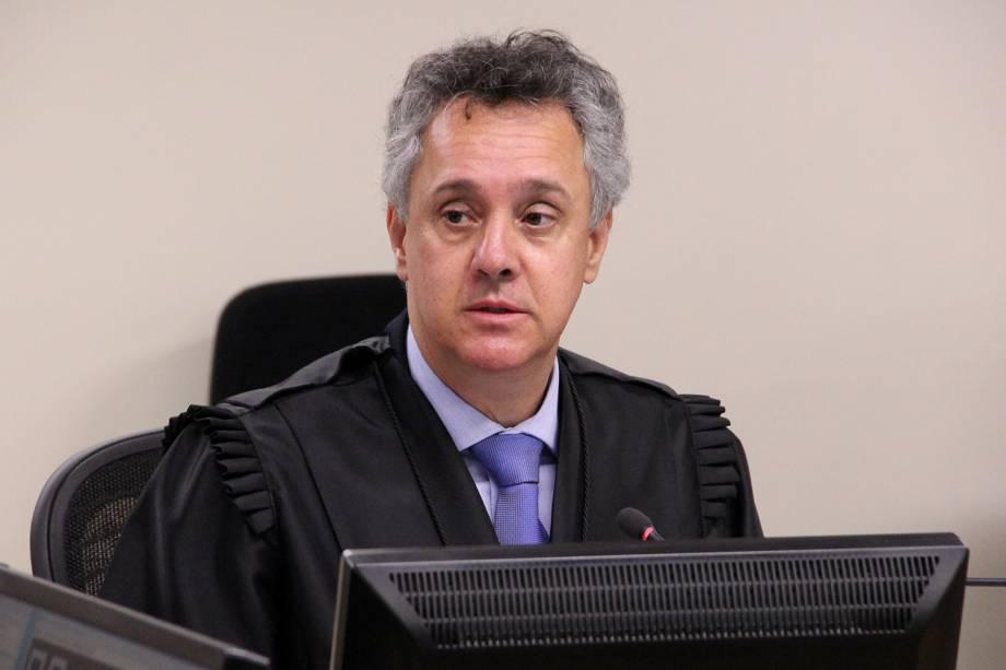 O desembargador João Pedro Gebran, durante sessão de julgamento do ex-presidente Lula no TRF4 (Tribunal Regional Federal da 4ª Região), em Porto Alegre (RS) - 24/01/2018