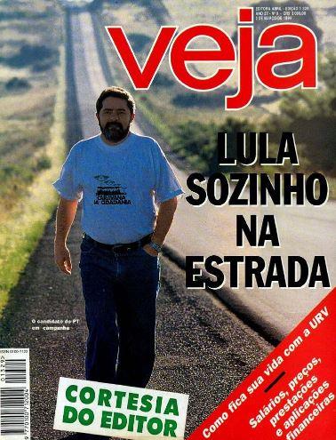 Após a primeira derrota, Lula candidata-se novamente à presidência da República em 1994, data em que estampa a capa de Veja. Fernando Henrique Cardoso, que havia recebido o apoio de Lula quando se candidatava ao Senado, tornou-se seu maior adversário. Desta vez, Lula perde para FHC no primeiro turno, com 18% dos votos.