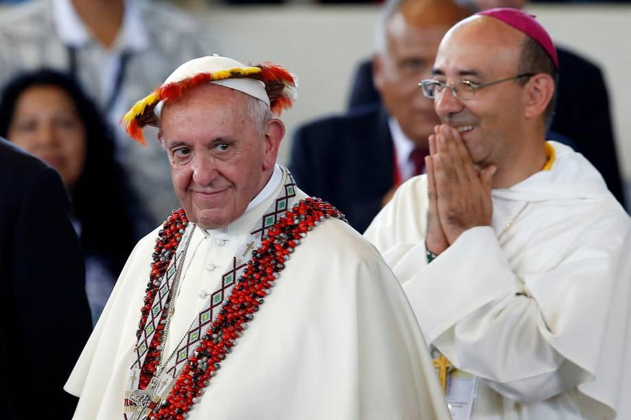 Papa Francisco participa de encontro com grupos indígenas em Puerto Maldonado, no Peru - 19/01/2018