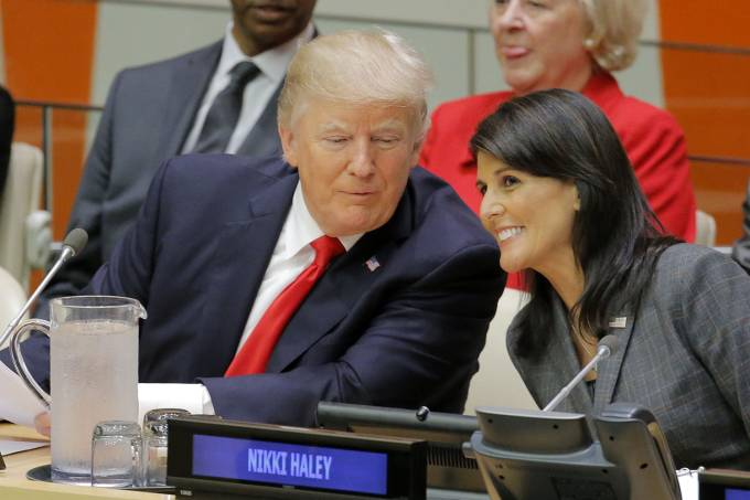 Donald Trump e Nikki Haley