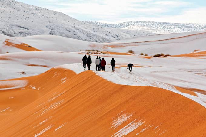 Imagem da Semana – Neve no Saara