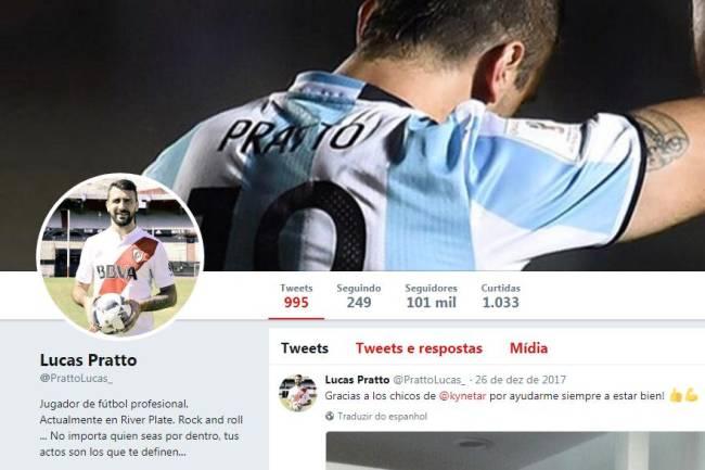 Lucas Pratto retirou número 12 de seu Twitter
