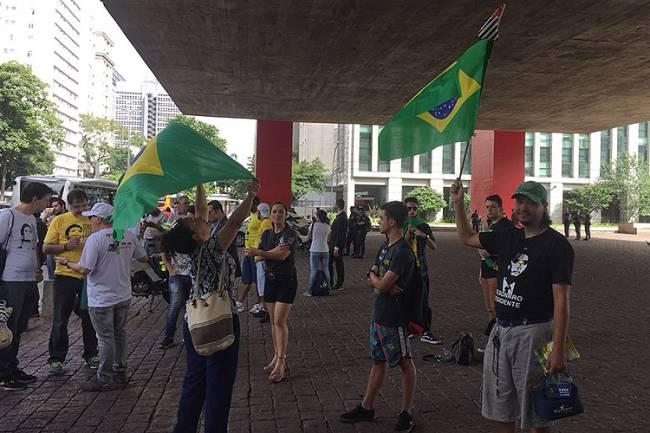 Protestos a favor da condenação de Lula em São Paulo